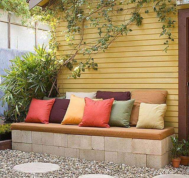diy concrete bench
