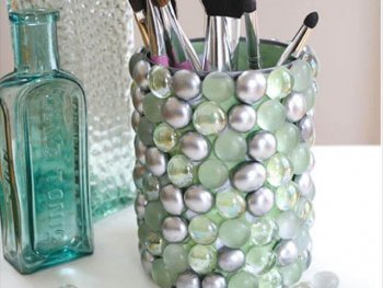 diy glass bottles wall organizer