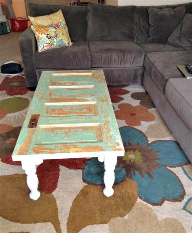 Diy Old Doors Turn Into Coffee Table Diy To Make