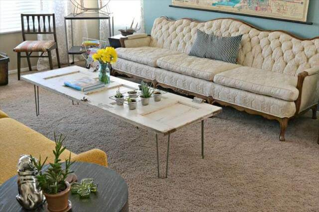 DIY Old Doors Turn Into Coffee Table To Make
