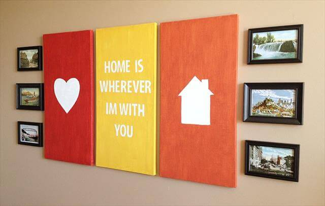 Diy and crafts diy home decor diy projects diy to Diy canvas painting designs