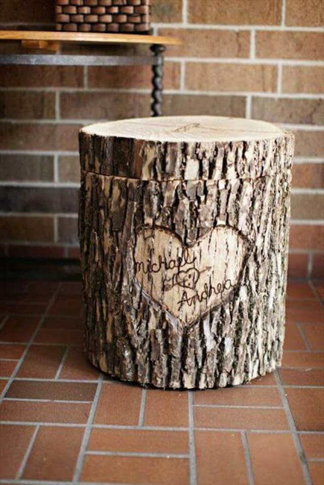 DIY Tree Stumps Idea