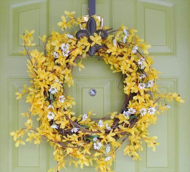 Diy Wreaths For Front Door: 8 DIY Easy Spring Wreath Ideas To Make