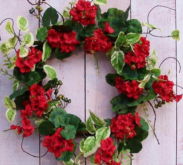 Beautiful Flowers Spring Wreath