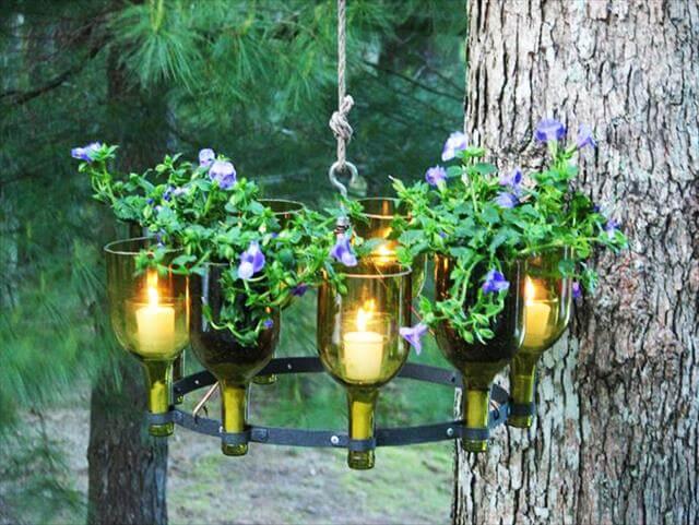 Out door bottles chandelier