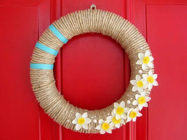 DIY Vintage rope wreath