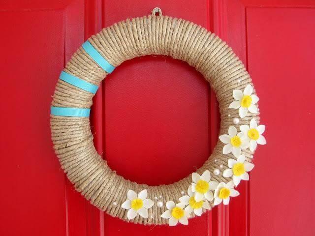DIY Vintage rope wreath
