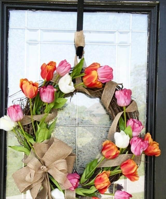 Nice Tulip Wreath