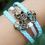 diy light blue charm bracelet