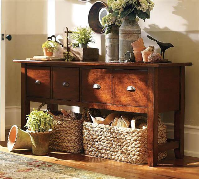 Foyer Key Table : Diy entryway decor and storage ideas to make