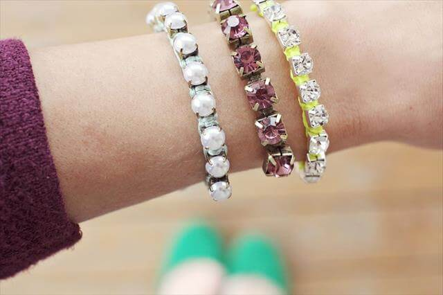 diy easy hand made bracelet idea for girls