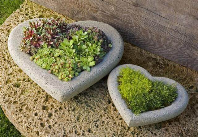 diy concrete garden pattern
