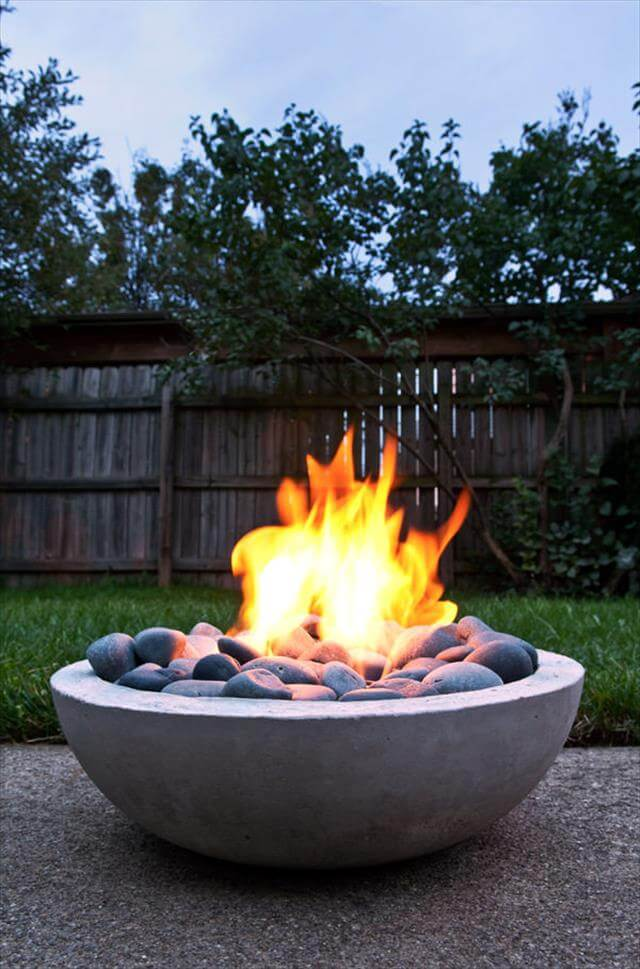 out door concrete fire pit