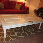 DIY Old Doors Turn into Coffee Table