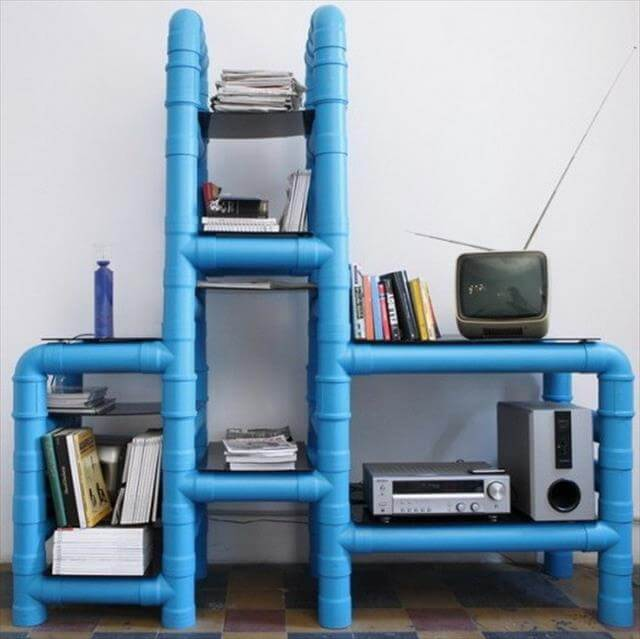 DIY PVC pipe storage idea