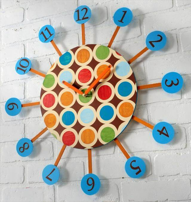 10 Easy Diy Wall Clock Ideas For Room Diy To Make
