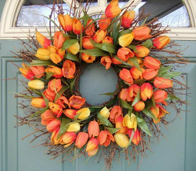 Orange Wreath Design