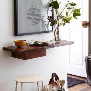 DIY Entry way wall organized shelf