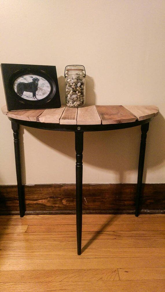 half circle entry way table