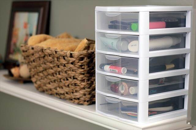 DIY White Color Makeup Organizer Boxes