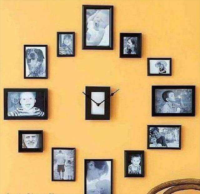 Photo Collage Clock Projects
