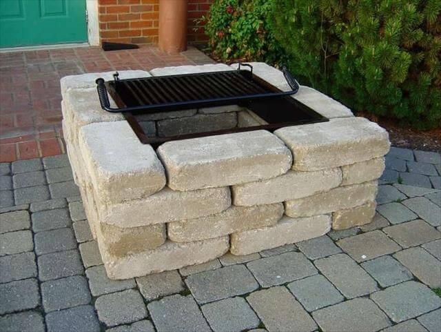 bricks fire pit idea