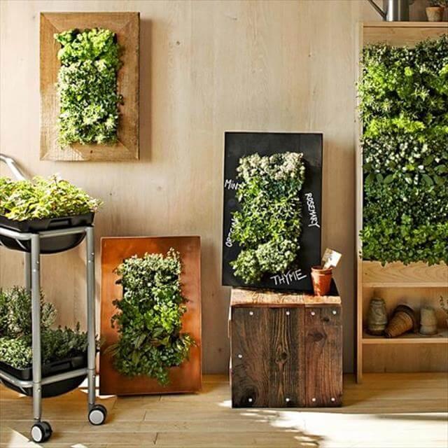 Indoor Wooden Wall Planter
