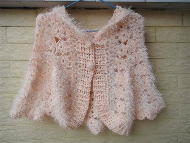 Crochet Cardigan Sweater For Babies