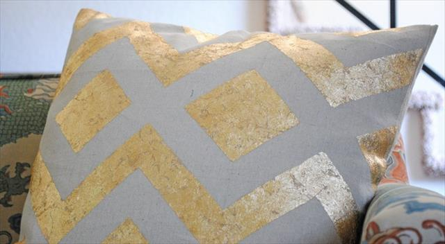 Great Gold Leaf Pillow