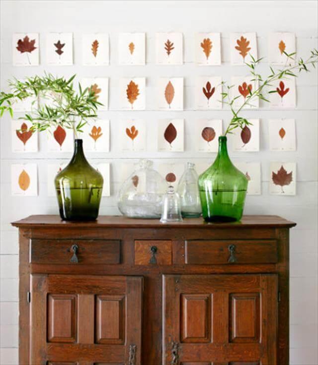 Pressed Leaves Design
