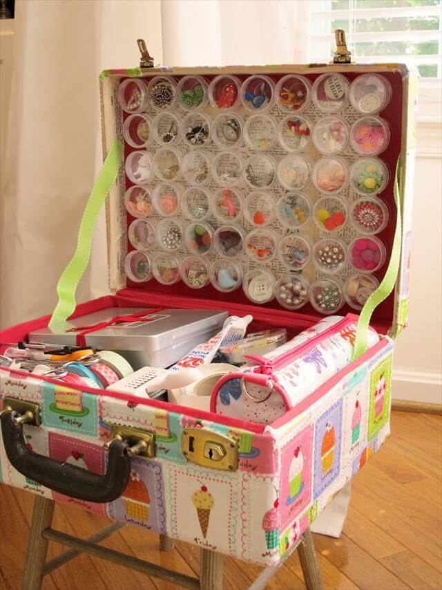 DIY-Vintage-Suitcase-Craft-Box