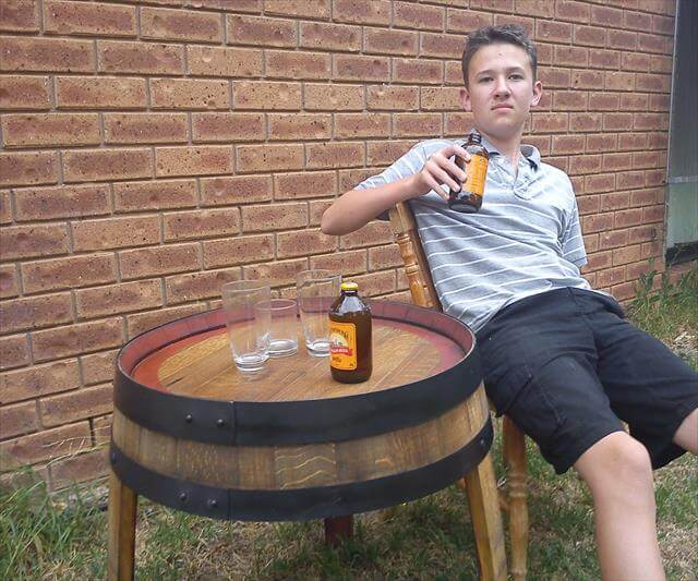 Wine Barrel Beer Table style