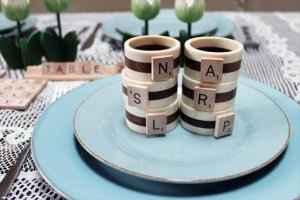 Scrabble napkin rings