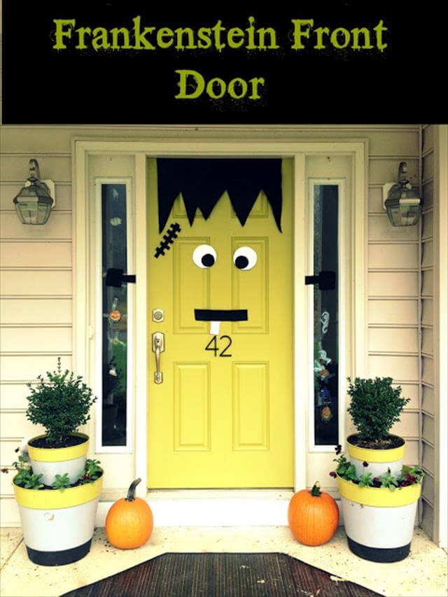 DIY Frankenstien Door Decor