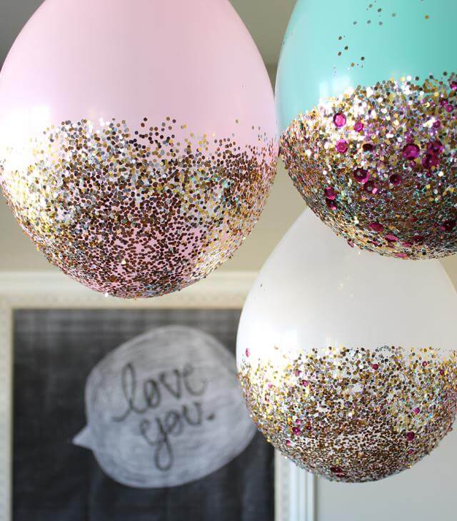 Birthday Party Glitter Balloon