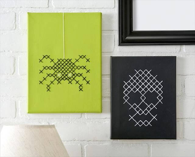 Cross Stitch Cnvases Halloween Idea