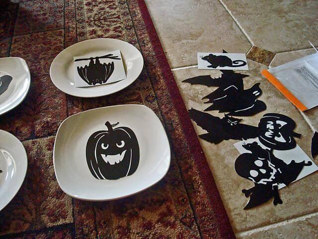 Old Halloween Plates