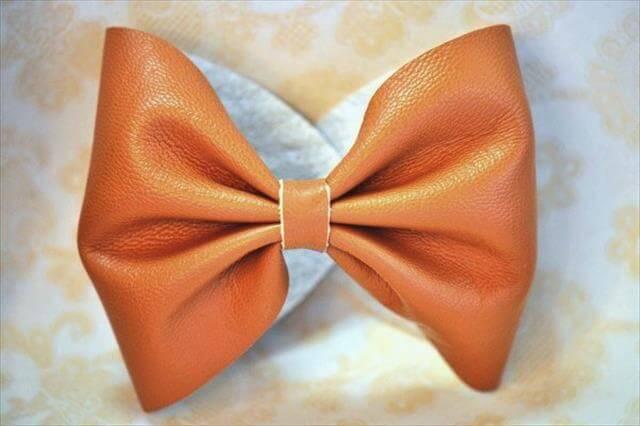 Leather Bow Bracelet