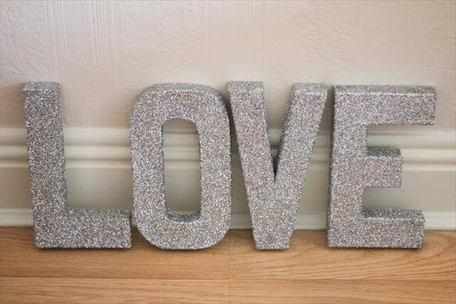 9 Diy Easy Glitter Wall Art Ideas