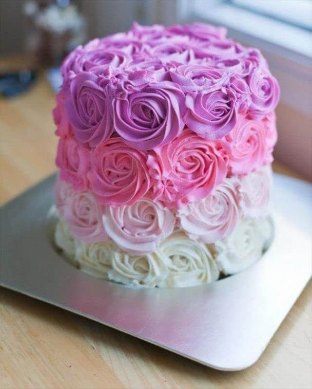 Ombre Flower Cake Idea