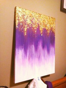 9 DIY Easy Glitter Wall Art Ideas