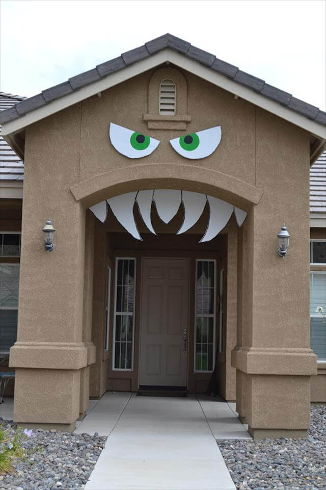 Outdoor Monster Decor