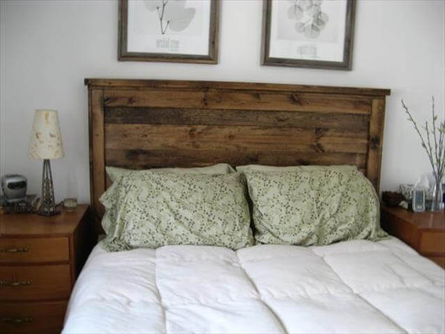 DIY Upcycled Headboard Idea