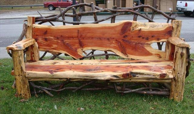 DIY Beautiful And Amazing Bench For Out Door Idea