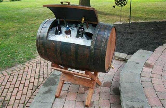 Wine Barrel Storage Idea