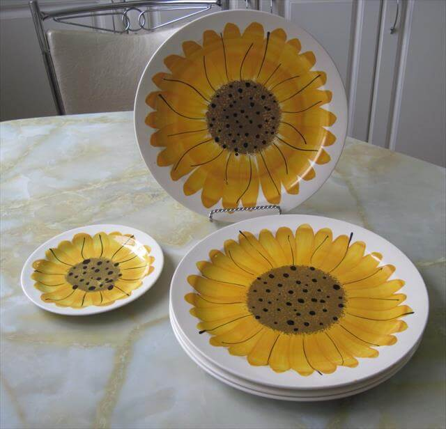 Sunflower Kitchen Pots Decor Idea