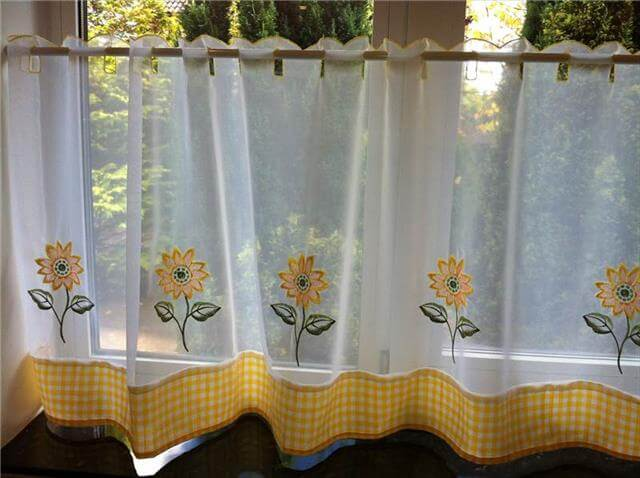 Sunflower Kitchen Decor Curtains