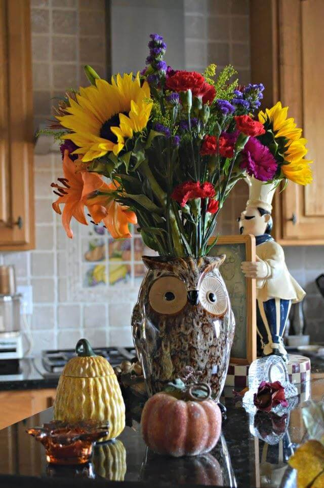 Diy Sunflower Vase For Kitchen Decor
