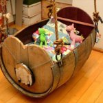 Wine Barrel Baby Cradle