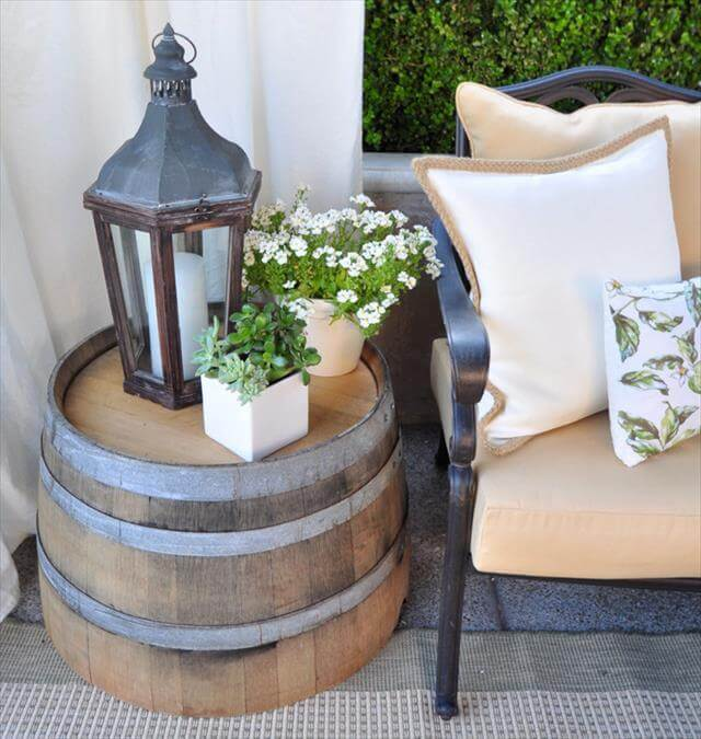 diy barrel side table
